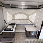 Clipper 107LS Back to Front Cooktop, Sink, Entry Door, Storage and Queen Bunk Tent End