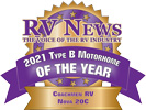 RV News 2021 Type B Motorhome of the Year - Nova 20C